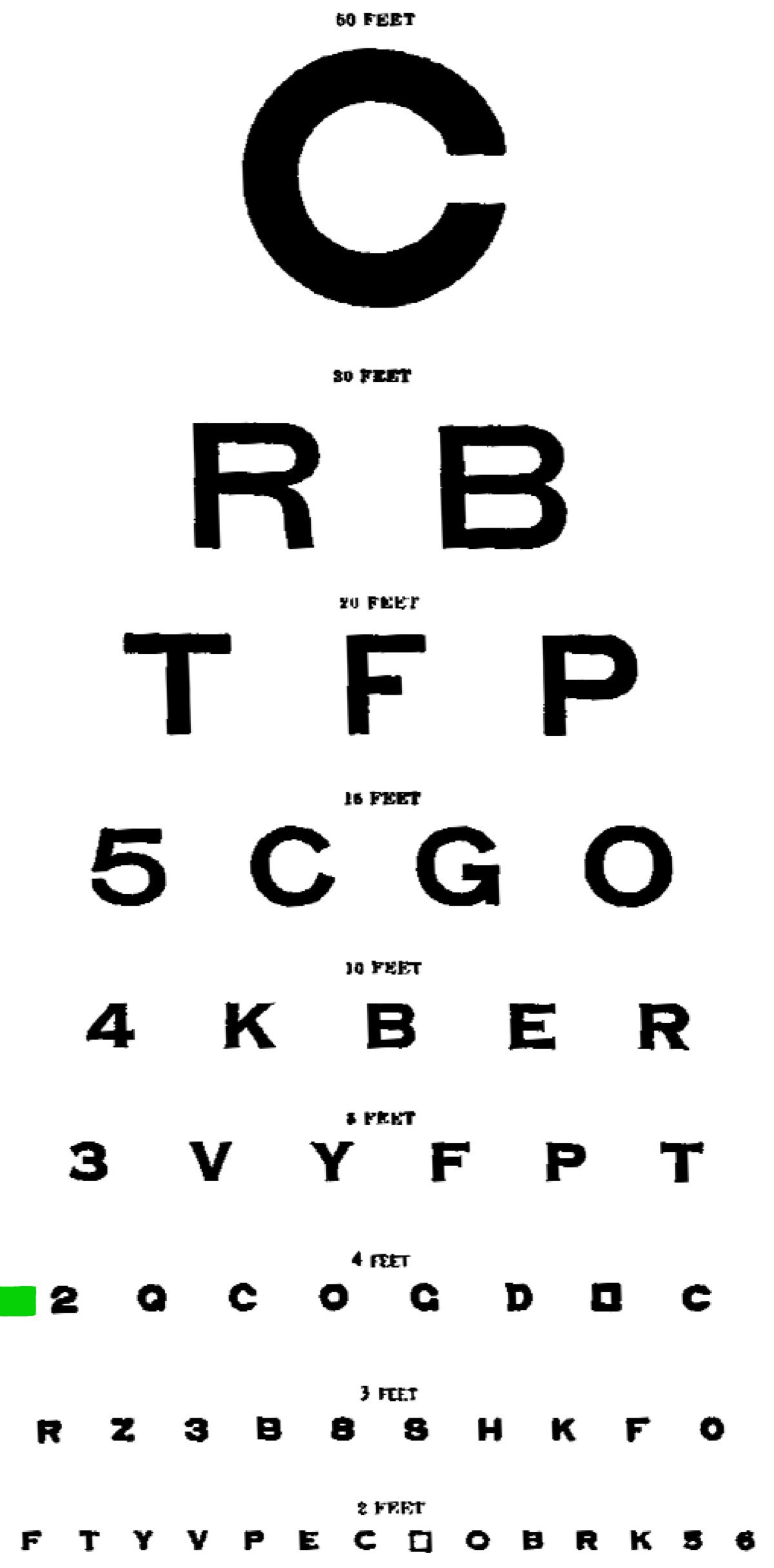 Eyecharts To Test And Improve Close And Distant Eyesight