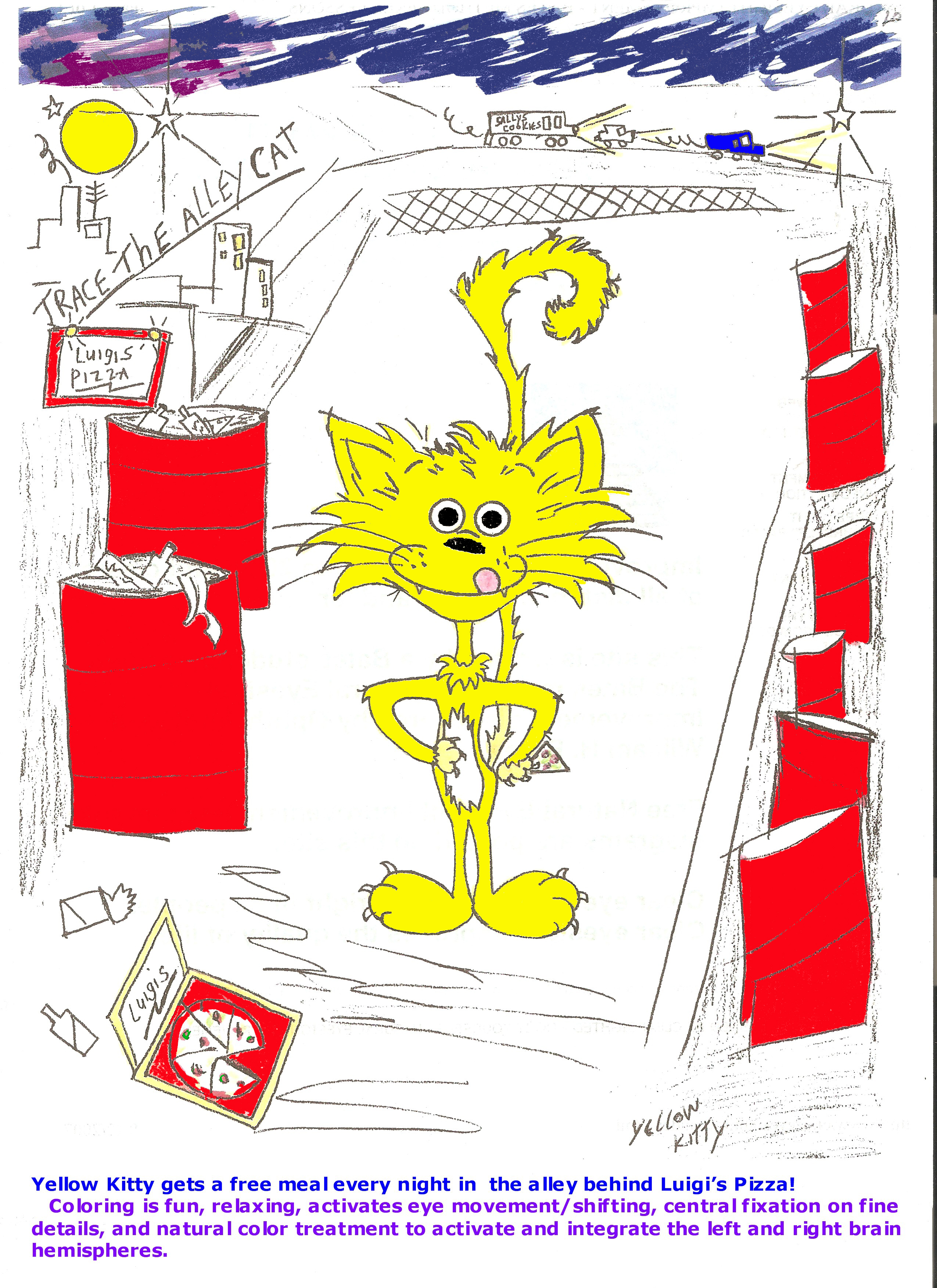 Coloring Book, Yellow Kitty
