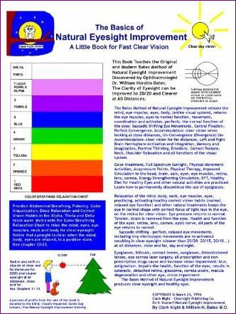 The Basics of Natural Eyesight Improvement - A Little Book For Fast Clear Vision with Better Eyesight Magazine E-Book