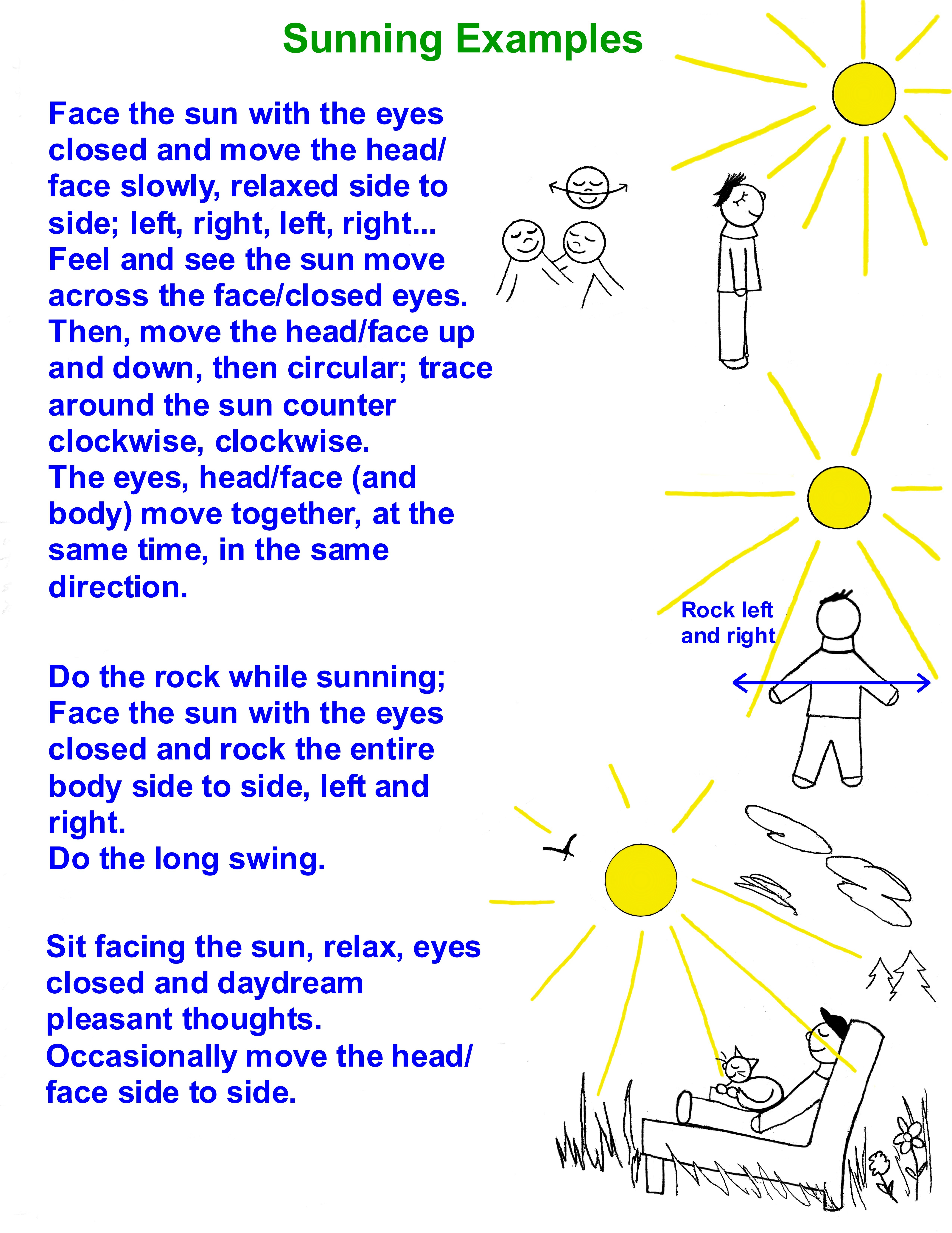 Sunning Examples
